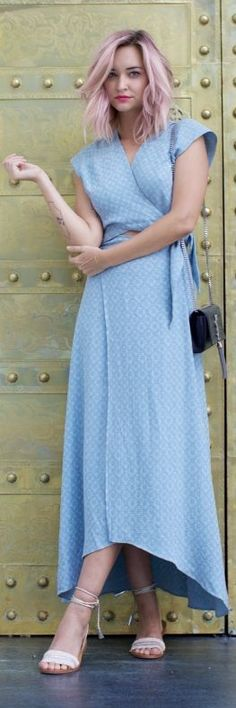 Blue Maxi Dress by Late Afternoon