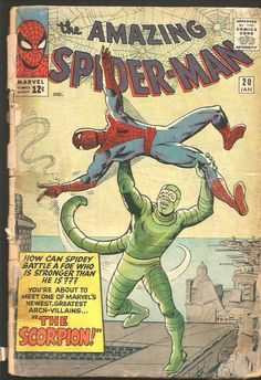 Amazing Spider-man #20 --1st SCORPION Steve Ditko Stan Lee Marvel Comics 1960's