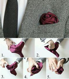 Pochet vouwen - the rose fold