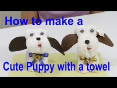 How cute are these wash cloth puppies and they make the perfect wash cloth pet. They are easy to make too! Check out all the super cute versions now. Diy Arts And Crafts, Diy Crafts For Kids, Dish Towel Crafts, Towel Origami, Towel Animals, Baby Washcloth, Baby Crafts, Washing Clothes, Cute Puppies