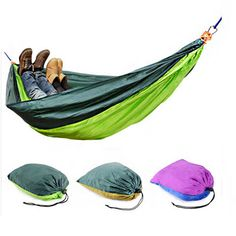 Outdoor Garden Portable Hammock Two Person Double Swing Bed For Camping Hiking Travel Beach