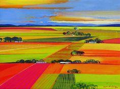 Artwork of Derric van Rensburg exhibited at Robertson Art Gallery. Original art of more than 60 top South African Artists - Since South African Artists, Landscape Art, Gouache, Bold Colors, Art Quotes, Original Art, Abstract Art, Art Gallery, Sketch