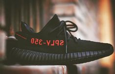 low priced a361e 74c48 Black Red Yeezy Boost 350 V2 CP9652 Sply 350, 350 V2, Sneaker Bar,