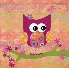 Pink Owl  Wall Art by WallaFun on Etsy, $12.00