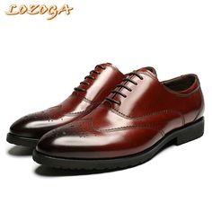 2017 New Men Flats Shoes Formal Shoes Genuine Leather Pointed Toe Italian  Luxury Dress Shoes Mens e0eba9c129dc