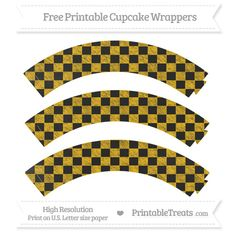 Free Amber Checker Pattern Chalk Style Cupcake Wrappers----HAS MANY COLORS--- http://www.printabletreats.com/page/397/?s&colorOptions&categoryOptions=Cupcake+Wrappers