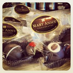 Mary Ann's Chocolates are made in Grand Rapids and available at all Chapbook Cafe locations! Yummy!