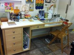 My sewing Table by lolablueocean, via Flickr