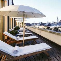 Dachterrasse des Bayerischen Hofs in München