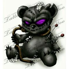 Find and save ideas about Black evil teddy bear tattoo design on Tattoos Book. More than FREE TATTOOS Voodoo Doll Tattoo, Voodoo Dolls, Cute Ankle Tattoos, Cool Tattoos, Small Tattoos, Vodoo Tattoo, Tattoo Drawings, Body Art Tattoos, Ship Tattoos
