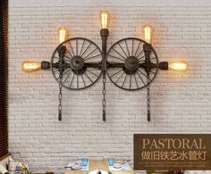 Uses one - five 60W. Single light sconce: 30cm W., 58.5cm H. 4 - light sconce: 66cm W., 55cm H. 5 - light sconce: 96cm W., 65cm H. Aged steel finish. Metal structure. | eBay!
