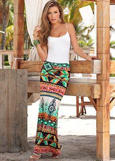 Embellished Maxi Skirt