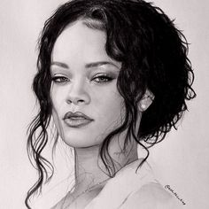 Rihanna by noseblide - drawing | First pinned to Celebrity Art board here... http://www.pinterest.com/fairbanksgrafix/celebrity-art/ #Drawing #Art #CelebrityArt