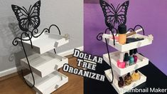 Here is a simple and quick idea using boxed frames from dollar tree. This is great for office supplies, perfume tray, makeup organizer, nail polish stand, sp. Dollar Tree Organization, School Supplies Organization, Spice Organization, Makeup Organization, Organizing Life, Dollar Tree Makeup, Dollar Tree Decor, Dollar Tree Crafts, Nail Polish Stand