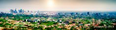 Dreaming of LA - a digitally altered view from the skyline of LA