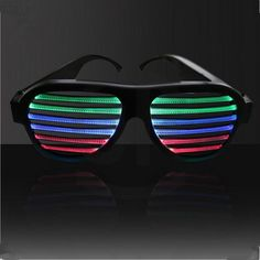 1efd758f1a9 Sound control LED light up glasses move to beat and tempo of music. Shades