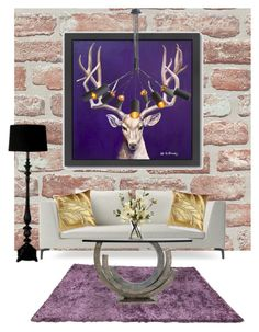 """Purple Wonder"" by erinakruger on Polyvore featuring interior, interiors, interior design, home, home decor, interior decorating, Threshold, Americanflat and Aviva Stanoff"
