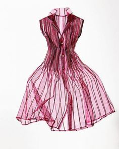 Discover the wonders of sheer-fabric manipulation by layering, tucking, pleating, gathering, or ruching.