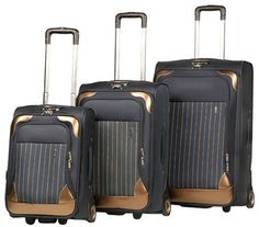Expandable Upright luggage setLarge Wheels for effortless movementPush-button recessing Locking handleSteady grip handle for Easy liftingFully-linedLarge mesh pocket on the interior lidEach upright expends 2