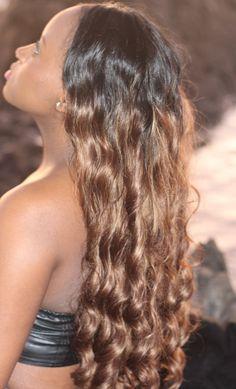 Black brown ombre hair. curls. long hair.