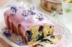 Impressive lemon and blueberry drizzle cake is perfect for sharing. Make this loaf cake at the weekend for a sweet treat or save for a special occasion. The drizzle is made from blueberry conserve, which is why it has a lovely, pastel colour. Cupcakes, Cupcake Cakes, Bill Granger, Drizzle Cake, Lemon Drizzle, Mothers Day Cake, Dessert Cake Recipes, Blueberry Cake, Blueberry Recipes