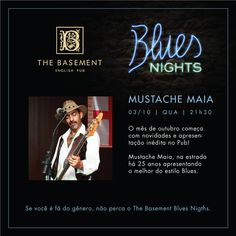Noite de Blues hoje no The Basement English Pub.