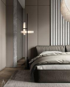 Bedroom Bed Design, Home Bedroom, Interior Design Living Room, Modern Interior, Interior Architecture, Bedroom Decor, Bedrooms, Modern Minimalist, Architecture Visualization