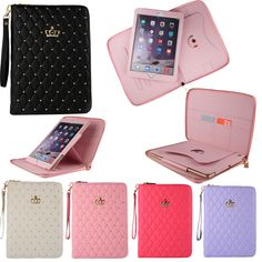 Luxury Leather Crown Zipper Bag Case Cover for Apple iPad Air 2 iPad 3 4 Mini 3 #UnbrandedGeneric