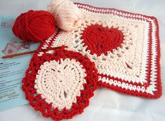 Two crochet hearts are better than one!