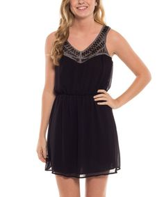 This Black Blouson Dress by Coveted Clothing is perfect! #zulilyfinds
