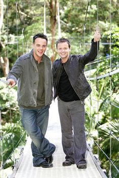 I'm A Celebrity, Get Me Out of Here. Totally made, of course, by Ant & Dec, who make me roll laughing. Declan Donnelly, Ant & Dec, Britain Got Talent, Reality Tv Shows, Tv Presenters, Me Tv, Pop Singers, Celebs, Celebrity