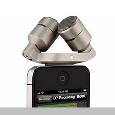 iXY | The iXY is a broadcast-quality stereo microphone for use with Apple devices including the iPhone, iPod and iPad | Design team: Peter Cooper, Sam Trewartha, Danial Stocks, Ethan Ong and Joshua Mun of RODEWORKS | IDEA 2013 Silver