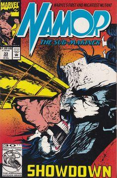 Namor, the Sub-Mariner # 33 Marvel Comics Comic Book Covers, Comic Books, Jae Lee, Howard The Duck, Sub Mariner, Cloak And Dagger, Moon Knight, Marvel Series, Classic Comics