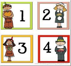 November calendar numbers - free!