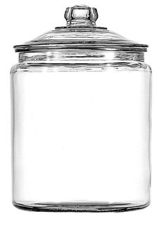 Store your dry good with ease with this Heritage Hill Glass Jar. 1 gallon canister is perfect for your kitchen counter. Handy glass storage jar holds candy, cookies and more. From Anchor Hocking. Glass Storage Jars, Pantry Storage, Jar Storage, Pantry Organization, Ribbon Storage, Kitchen Storage, Food Storage, Storage Ideas, Glass Cookie Jars