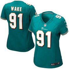 NFL Jersey's Women's Miami Dolphins Cameron Wake Nike White Game Jersey