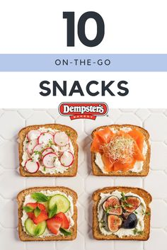 Hungry but no time to make anything? Our top 10 on-the-go snacks will give you some delicious and easy options for the next time you are in a pinch.