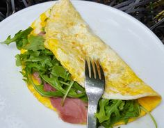 English ham and cheese omelette - CookTogether