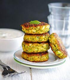 Zucchini Recipes - Creamy Greek Zucchini Patties