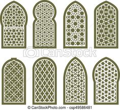 Figured arabian window ornament - grating arabesque pattern Vector - stock illustration, royalty free illustrations, stock clip art icon, stock clipart icons, logo, line art, EPS picture, pictures, graphic, graphics, drawing, drawings, vector image, artwork, EPS vector art Moroccan Design, Moroccan Decor, Moroccan Style, Morrocan Architecture, Islamic Architecture, Arabian Pattern, Middle Eastern Decor, Arabian Decor, Cnc Cutting Design