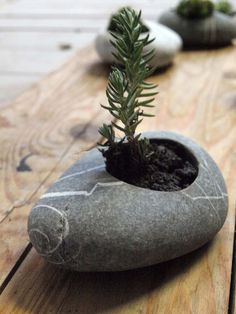 flowerpot miniature flowerplater candleholder sea by Mihulli