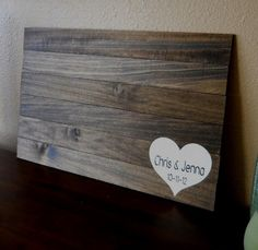 Rustic Wood Guest Book Alternative Custom Personalized Wedding Sign by Typrose on Etsy