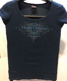 Harley Davidson Women's Embellished T-shirt take the lead Sturgis South Dakota