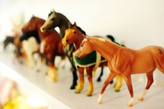 Breyer horses.  I had quite a collection!.......i had sooo many horses; don't know what ever happened to them.