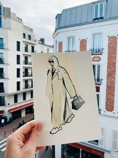 My sketch of street style fashion