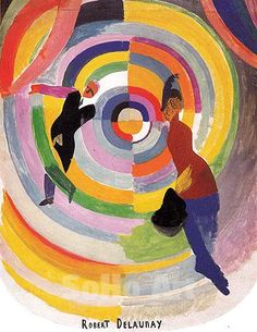 Art by Robert Delaunay | Political Drama 1938 - Robert Delaunay reproduction oil painting