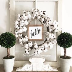 And Hello to you! Love Enjoli's inspired #homedecor style! Thanks for including our Cotton Wreath in your #home.