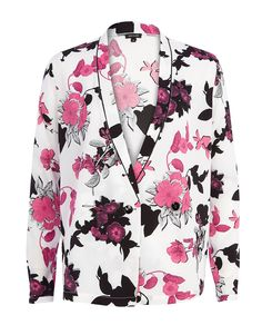 White #floral #print #kimono
