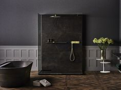 Rectangular shower cabin with tray TONO ONE | Shower cabin by Noken