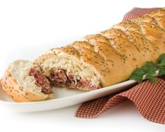 Ruben Loaf - (you could almost make any sanchich like this..... thinking about doin a french dip one.... and you can always put the leftovers away for sandwhiches later :D)
